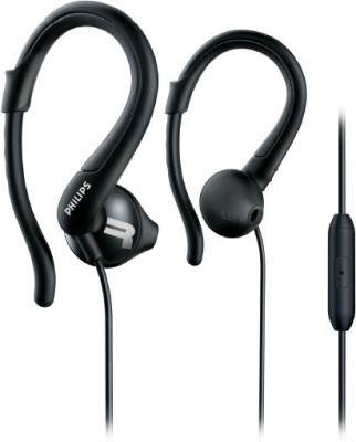 Philips SHQ1255TBK/00 Wired Headset with Mic(Black, In the Ear)