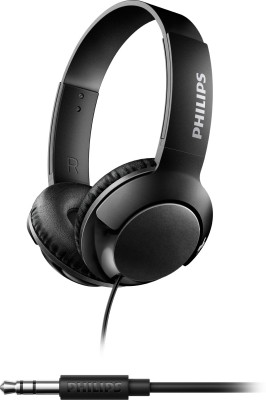 Philips SHL3070BK/00 Wired Headphone(Black, Over the Ear)