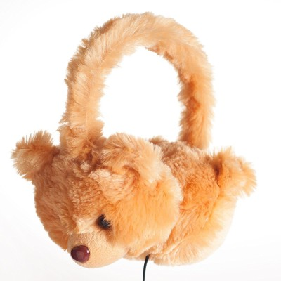 ShopyBucket Brand New Soft Animal Over-Ear Headphones with Arctic Polar Bear Design Wired Headphone(Yellow, Over the Ear)