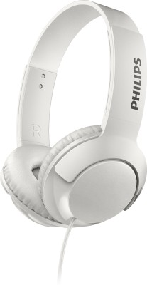 Philips SHE1405WT/94 Wired Headset with Mic(White, In the Ear)