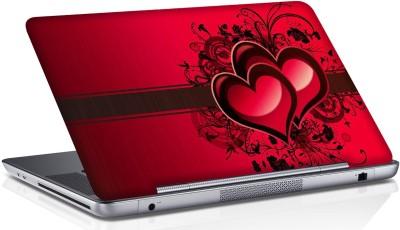 Shopmania twin Heart Vinyl Laptop Decal 15.6