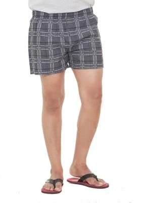 Old Khaki Checkered Men's Grey Boxer Shorts