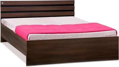 Delite Kom Cocoa Engineered Wood Queen Bed(Finish Color -  Black & Acacia Dark Matt Finish)