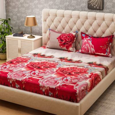 Bombay Dyeing Microfiber Floral Double Bedsheet