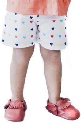 Cuddledoo Short For Girls Casual Printed Pure Cotton(Multicolor, Pack of 1)