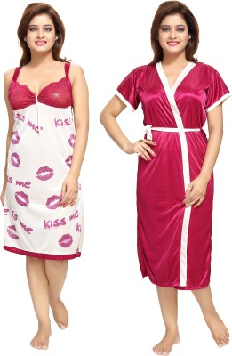 Shopping World Women Nighty(Maroon)