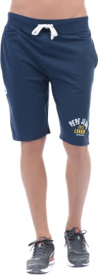 Pepe Jeans Solid Men Blue Basic Shorts