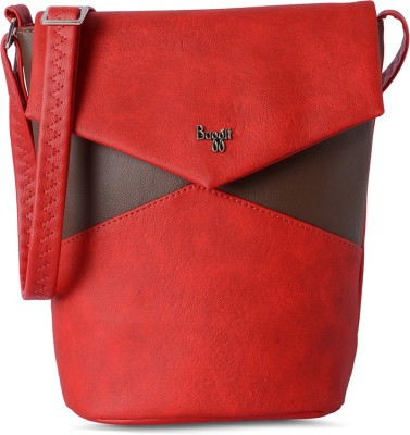 Baggit Women Red Leatherette Sling Bag
