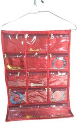 Aadhya Jewellery Organizer Small Travel Bag Red Aadhya Small Travel Bags