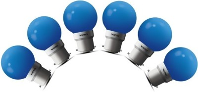 Wipro 0.5 W Standard B22 LED Bulb(Blue, Pack of 6) at flipkart
