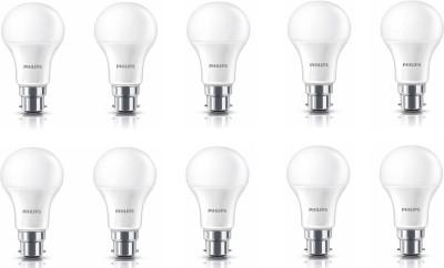 Philips 12 W Standard B22 LED Bulb(White, Pack of 10) at flipkart