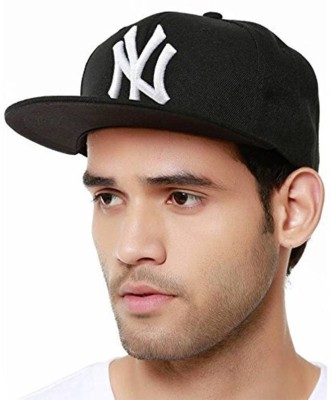 Friendskart Solid NY White Hip Hop Cap