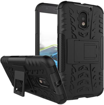 Flipkart SmartBuy Back Cover for Motorola Moto E3 Power(Metallic Black, Shock Proof, Rubber, Plastic)
