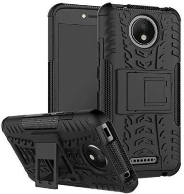Flipkart SmartBuy Back Cover for Motorola Moto C Plus Black, Shock Proof