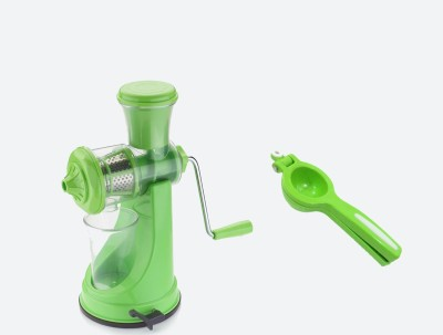 handy juicer and Lemon Squeezer Plastic Hand Juicer(Green Pack of 2) at flipkart