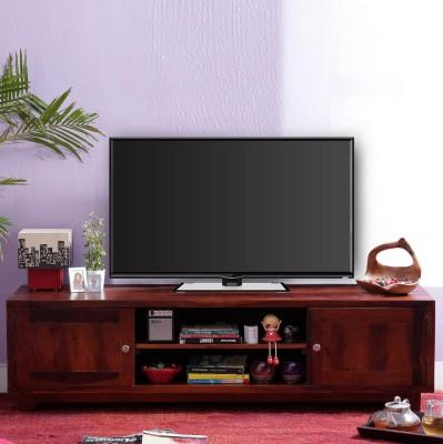 Vintej Home Herbert Sheesham Solid Wood TV Entertainment Unit(Finish Color - Honey Oak)