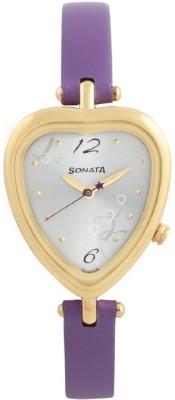 Sonata NF8142YL01 Analog White Dial Women's Watch