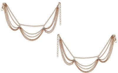 FemNmas Multi Chain Sexy Round Anklet Alloy Anklet(Pack of 2)
