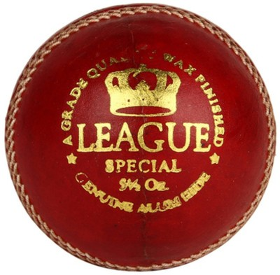 Cosco LEAGUE Cricket Leather Ball(Pack of 1, Red)  available at flipkart for Rs.398