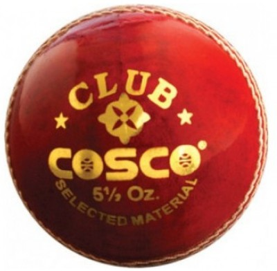 Cosco CLUB Cricket Leather Ball(Pack of 1, Red)  available at flipkart for Rs.234