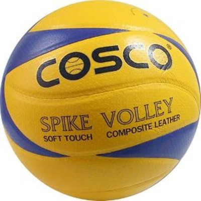 COSCO Spike Volleyball   Size: 4 Pack of 1, Multicolor COSCO Volleyballs