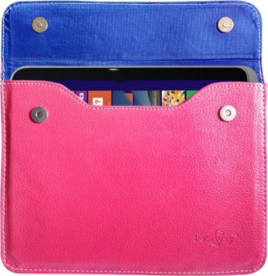 Fastway Book Cover for Micromax Canves Breeze Tab P660(Pink)