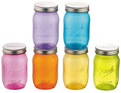 b26da5aa3a4 3% OFF on MasterCook Mason Jar 1000ml - 1000 ml Plastic Grocery Container( Pack of 6
