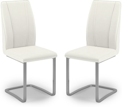 Urban Ladder Seneca Leatherette Dining Chair(Set of 2, Finish Color - White)
