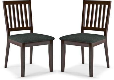 Urban Ladder Diner Solid Wood Dining Chair(Set of 2, Finish Color - Dark Walnut)