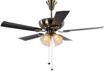 Usha Fontana Maple 5 Blade Ceiling Fan(Antique Brass)  available at flipkart for Rs.6449