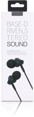 Voltegic ™ Wired In-Ear Metal Earphones Headsets Earbuds With Microphone Noise Isolating Stereo Headphones Wired Headset with Mic(Black, In the Ear)