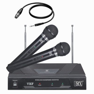 MX Professional with 2 Vhf Series Wireless / Cordless Microphones LWM-328 Microphone