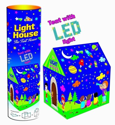 Goyal Kids Play Tent House with Led Lights(Multicolor)