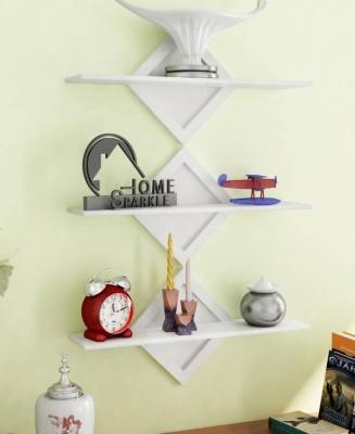 all crafts art ziper wall shelf MDF Wall Shelf(Number of Shelves - 3, White)