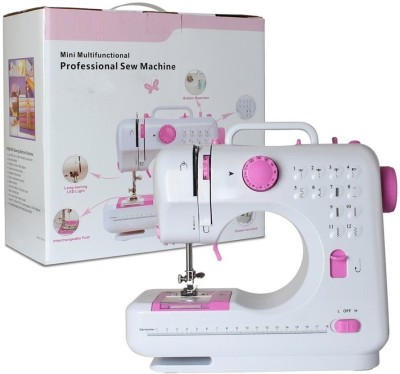 Wonder World ® Home Maker Multifunction Double Thread And Speed Free Arm Crafting Mending 12 Built In Stitches  Electric Sewing Machine available at Flipkart for Rs.6999