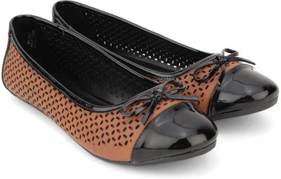 Bata Bellies Tan & Black For Women