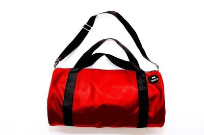 InkCraft Gym Bag 25Litres Leatherrite Gym Duffle Bag Dyffle Gym Bag(Red, Sling Bag)  available at flipkart for Rs.244