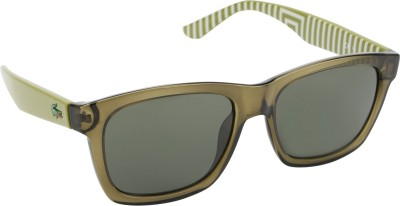 Lacoste Rectangular Sunglasses(Green) at flipkart