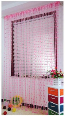 angel home 210 cm  7 ft  Polyester Door Curtain  Pack Of 2  Striped, Multicolor