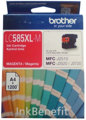 Brother LC585 XL- M Magenta Original Cartridge Box Pack For Brother MFC-J3520 & MFC-J3720 Printers Single Color Ink Cartridge(Magenta)