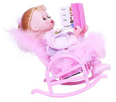AR Enterprises Musical Book Reading Chair Doll(Pink)  available at flipkart for Rs.649
