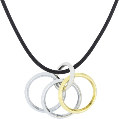 the jewelbox 4 Rings Gold-plated Stainless Steel Pendant Set
