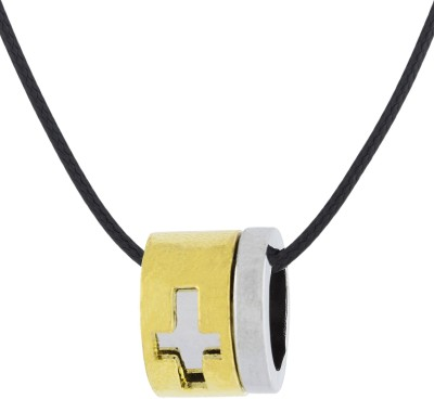the jewelbox 3D Cross Gold-plated Stainless Steel Pendant Set