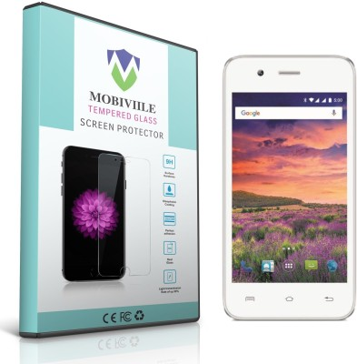 MOBIVIILE Tempered Glass Guard for Lava Iris Atom X(Pack of 1)