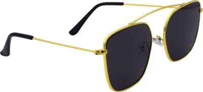 Ocnik Retro Square Sunglasses(Black) at flipkart