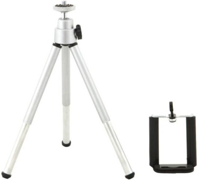 Outre Adjustable Mini Mobile Phone Camera Stand Clip Bracket Holder Tripod Silver, Supports Up to 500 g