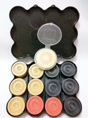 Best Ideas Unbreakable Professional Carrom Coin Set With Free Professional Striker Carrom Pawns(Pack of 24)  available at flipkart for Rs.225