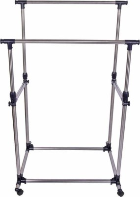 Sukot Hanging Rack Clothes Drying Stand Stainless Steel, Plastic Floor Cloth Dryer Stand(Steel)
