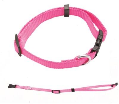sicons Plain Dog Collar Charm(Pink, Round)