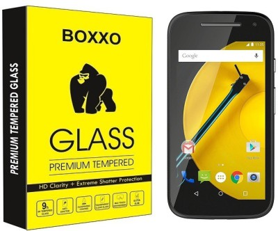 Boxxo Tempered Glass Guard for Motorola Moto E (2nd Gen) 3G(Pack of 1)